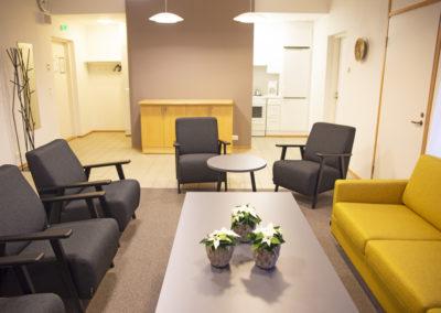 Kelo Lounge sopii pienten porukoiden illanviettoon tai kokoustamiseen.