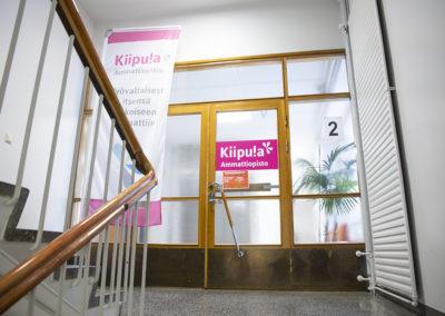 Kiiipulan ammattiopiston tilat sijaitsevat toisessa kerroksessa.