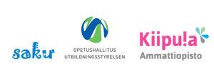Saku ry:n, opetushallituksen ja Kiipulan logot.