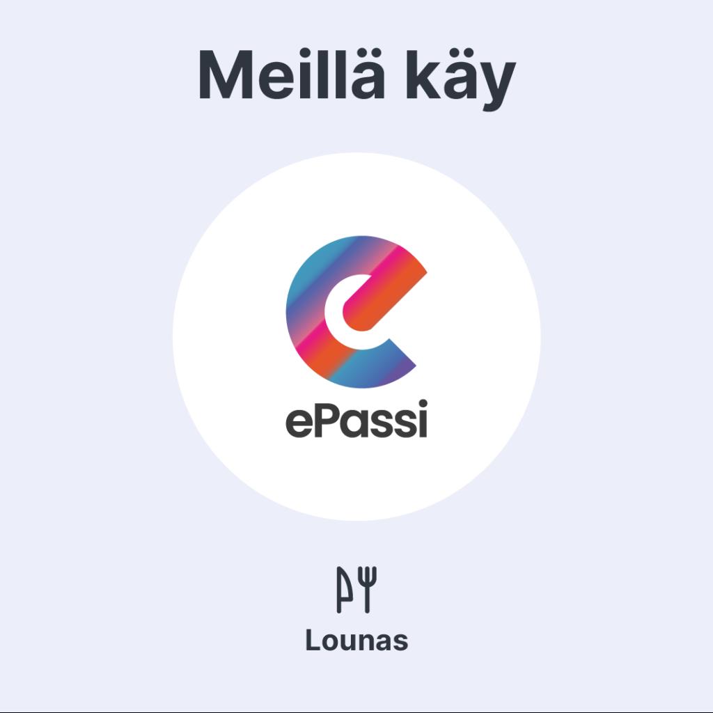 ePassi-logo. Meillä käy ePassi.